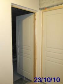 Cloisons - Encadrement porte de garage ...